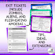 Ticket Out the Door | Exit Ticket | Halloween Exit Tickets | October Exit Ticket