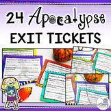 Exit Tickets: Apocalypse Theme (Ticket Out the Door; Informal Assessment)