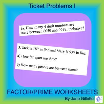 Ticket Problems I