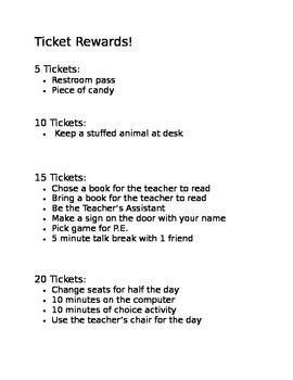 Ticket Rewards