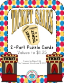 Money Matching Coins and Values 2-Part Puzzle Cards