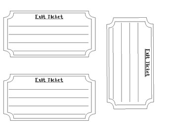 Ticket Shaped Exit Ticket