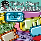 Ticket Templates Clipart BUNDLE #1, Exit Tickets