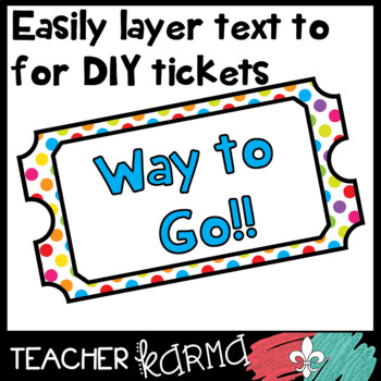 Ticket Templates BUNDLE #2 * Exit Tickets