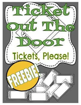 Ticket out the Door Template
