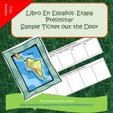 Ticket out the door for Spanish 1 Etapa Preliminar (En Esp