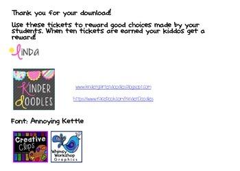 Ticket to Good Behavior