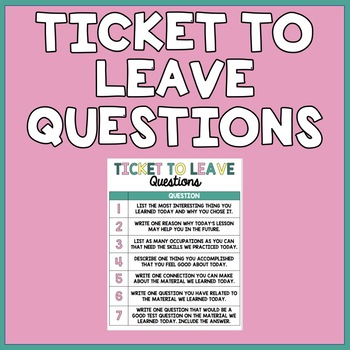 Ticket to Leave Questions