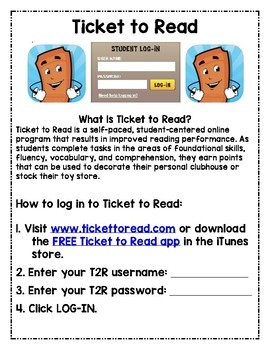 ticket to read teacher