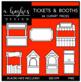 Tickets & Booths Clipart {A Hughes Design}