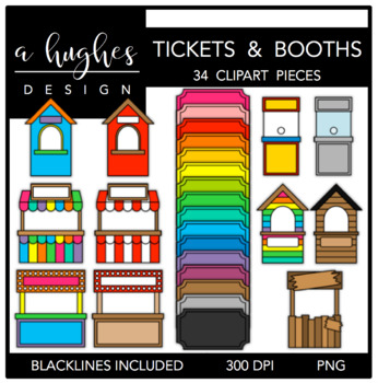 Tickets & Booths {Graphics for Commercial Use}