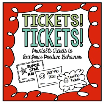 graphic relating to Raffle Ticket Printable named Tickets! Tickets! Printable Raffles and Tickets for Favourable Reinforcement
