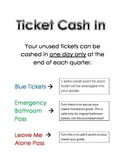 Tickets for Classroom Management