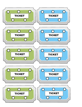 Tickets for Good Behavior in the Classroom