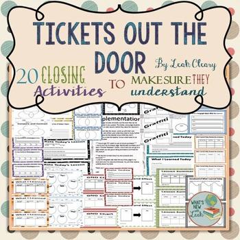 Tickets out the Door Exit Ticket Package