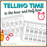 Ticking Time:  cut and paste, telling time to the hour and