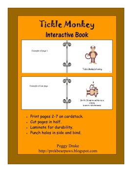 Tickle Monkey Interactive Book