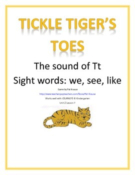 Sound of Tt  -  TICKLE TIGERS TOES