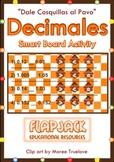 Tickle the Turkey Decimals Smart board Practice in Spanish