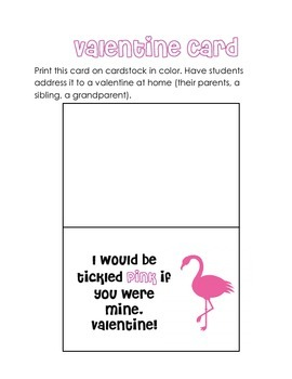Tickled Pink! Flamingo Valentine Craft & Card