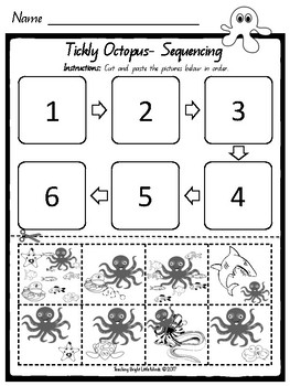 Tickly Octopus Worksheets and Craft