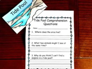 Tide Pool Emergent Reader with A Game and Other Activities