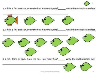 Preprinted/No Prep Tidal Times Multiplication Read Draw Write