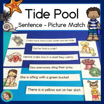 Tide Pool Sentence Picture Match Reading Center