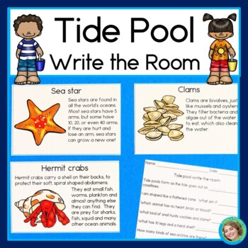 Tide Pool Write the Room, Matching Games, and Reading Comprehension