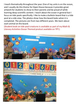 Tide Pools & Ocean Creatures Art Projects and Bulletin Board Ideas