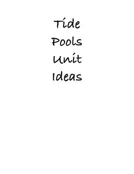 Tide Pools! Unit for preK-1st grade