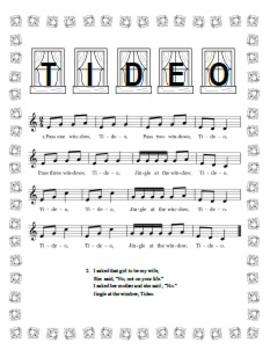 """Tideo"" Printable Song Sheet"