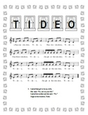"""Tideo"" Printable Song Sheet"