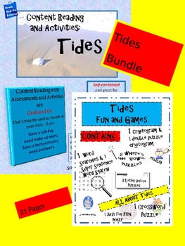 Tides Bundle - Content Reading/ Fun and Games - Editable