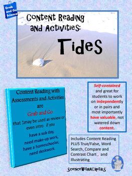 Tides Content Reading, Assessments, and Activities
