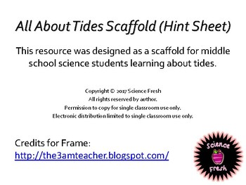 Tides Hint Sheet Scaffold