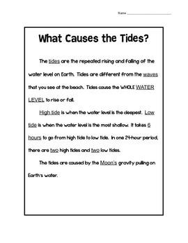 Tides Reading Comprehension