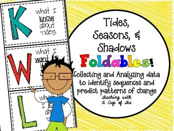 Tides, Seasons, & Shadows: Foldables {A Foldable for a Science Journal}