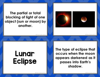 Tides and Eclipses Vocabulary Sort