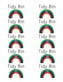 Tidy Bin Labels