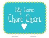 Tidy Home Chore Chart