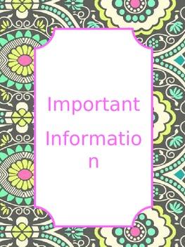 Tidy Teacher Notebook: Get Organized!