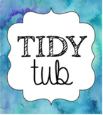 Tidy Tub Labels {Cool Watercolor} PLUS Editable