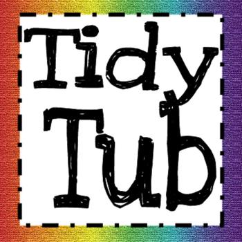 Tidy Tub Label (Rainbow)