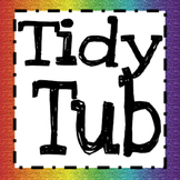 Tidy Tub Label (Rainbow)
