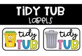 Tidy Tub Labels