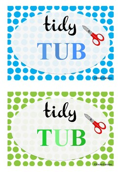 Tidy Tub Labels