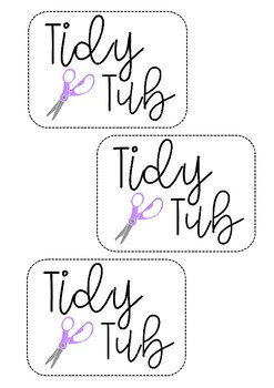 Tidy Tub Labels FREEBIE