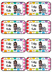 Tidy Tub Lables (2 sizes) - Rainbow Pop Theme