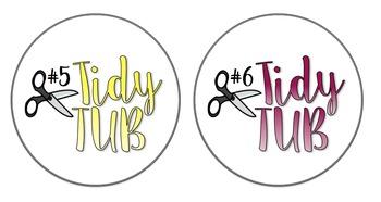 Tidy Tub Ombre Labels